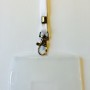 OV-chipkaart hoesje met plat draagkoord (wit)