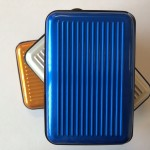 Wallet aluminium (blauw)