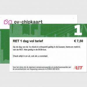 RET Dagkaart 1-dag Beide Zijden Zonder Prijs 2