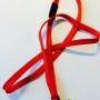 OV-chipkaart hoesje met plat draagkoord en breakaway (rood)