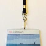 OV-chipkaart hoesje met plat draagkoord (zwart)