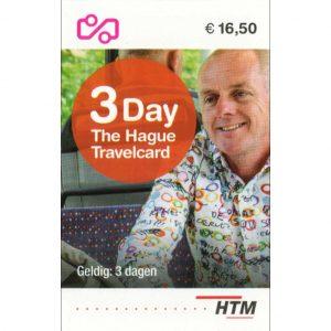 HTM The Hague Travel Ticket 3-dagen Voorkant Vierkant