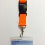 OV-chipkaart hoesje met breed draagkoord en breakaway (10 kleuren – 2,5 cm)