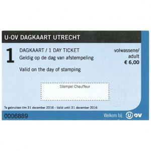 U-OV Dagkaart 1-dag Voorkant Vierkant