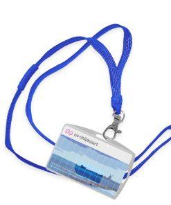 OV-chipkaart hoesje met plat draagkoord en breakaway (4 kleuren - 10 mm)