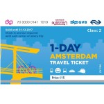 1-Day Amsterdam Travel Ticket GVB