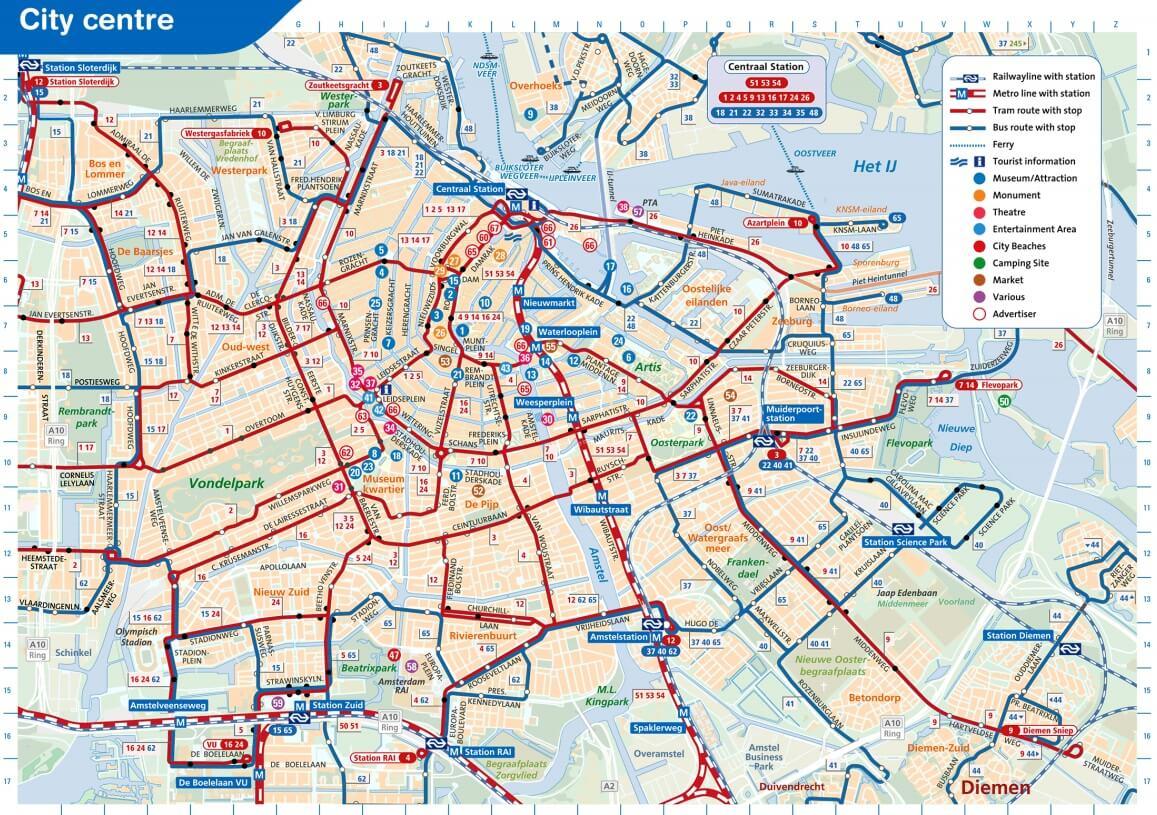 Amsterdam Travel Ticket 1 2 Or 3 Days Dagkaarten Ovshop Nl