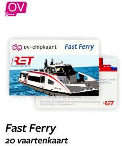 RET Fast Ferry 20 vaartenkaart