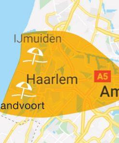 Amsterdam Beach Bus routekaart